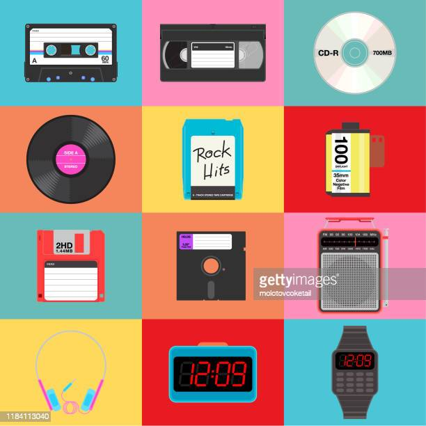 items from yesteryears - floppy disk stock illustrations, clip art, cartoons, & icons
