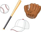 Items necessary for playing baseball