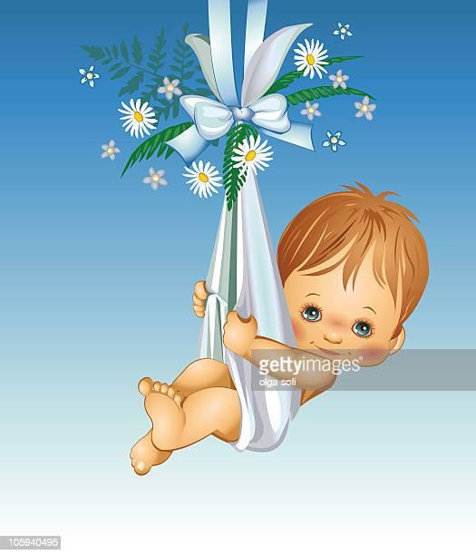 ilustrações, clipart, desenhos animados e ícones de é um menino-bebê - baby blanket