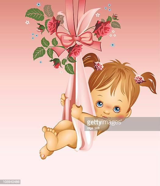 ilustrações, clipart, desenhos animados e ícones de é uma menina de bebê - baby blanket