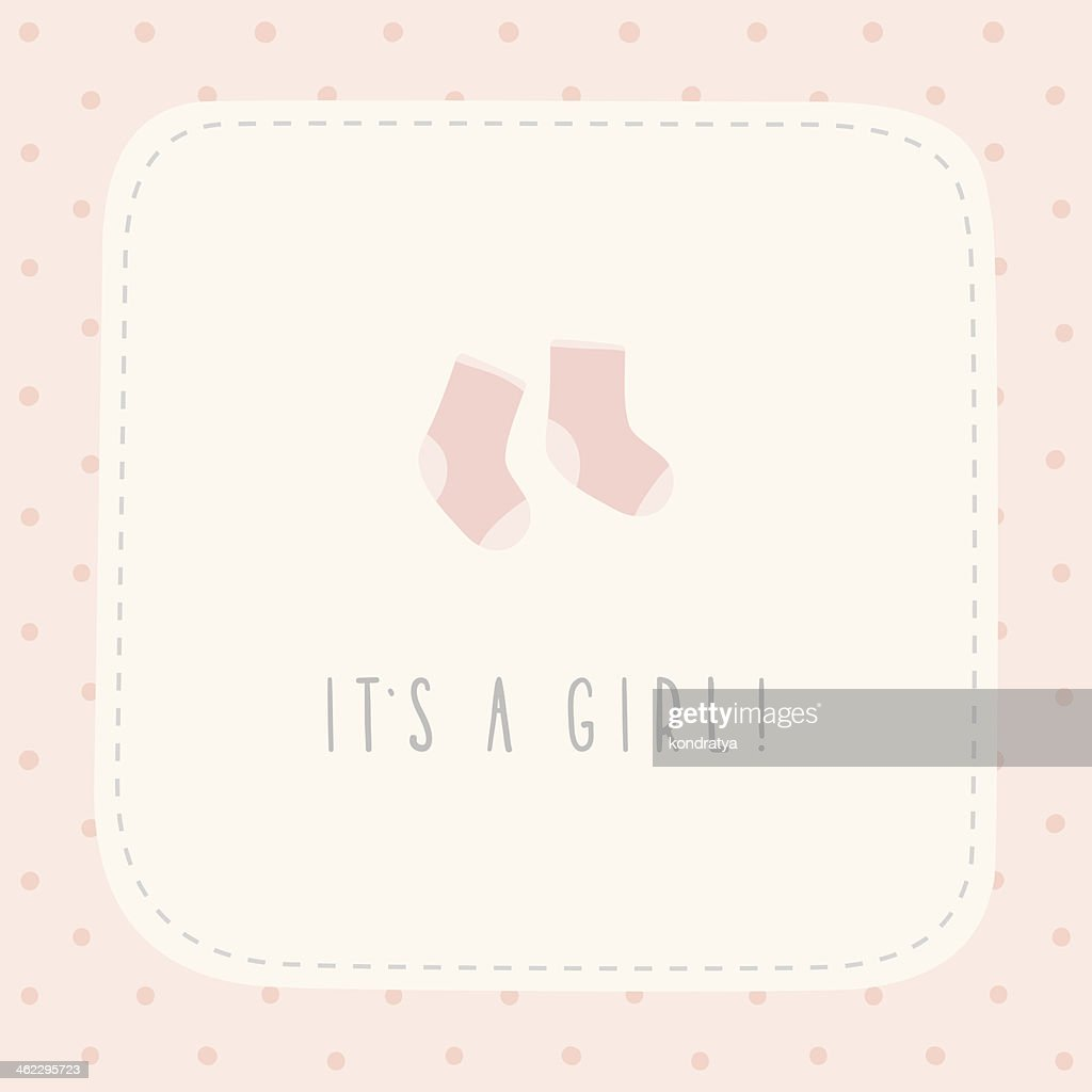 It's a girl greeting birthday card