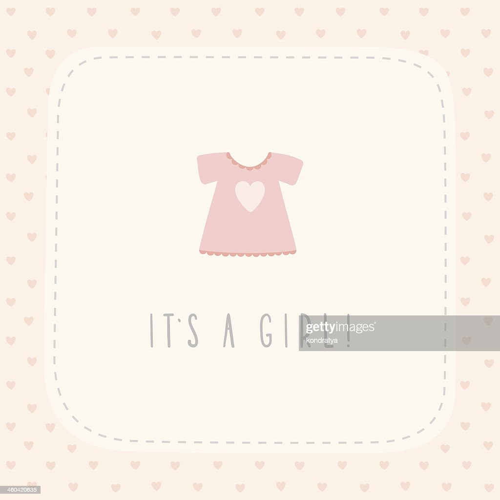 It's a girl greeting card with cute litlle dress