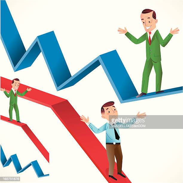 it's all up and down - deterioration stock illustrations, clip art, cartoons, & icons