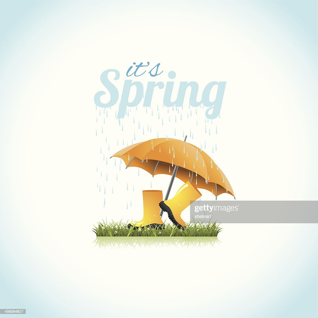 It's spring boots and umbrella