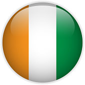 Ivory Coast Flag Glossy Button