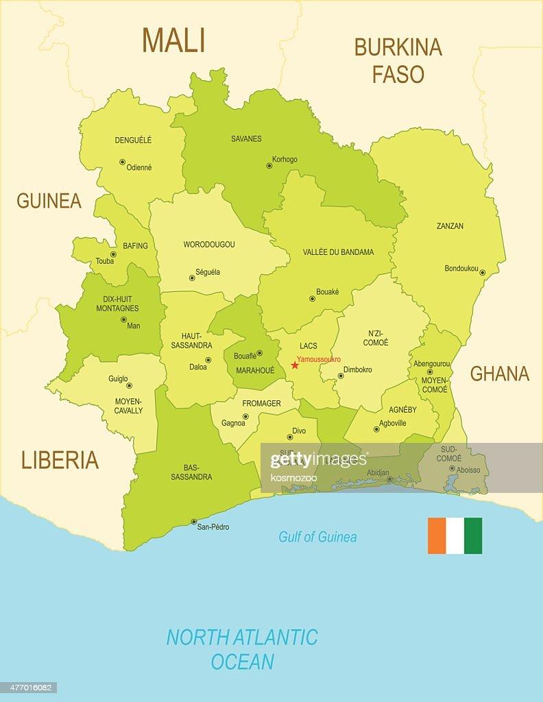 Ivory Coast : stock illustration