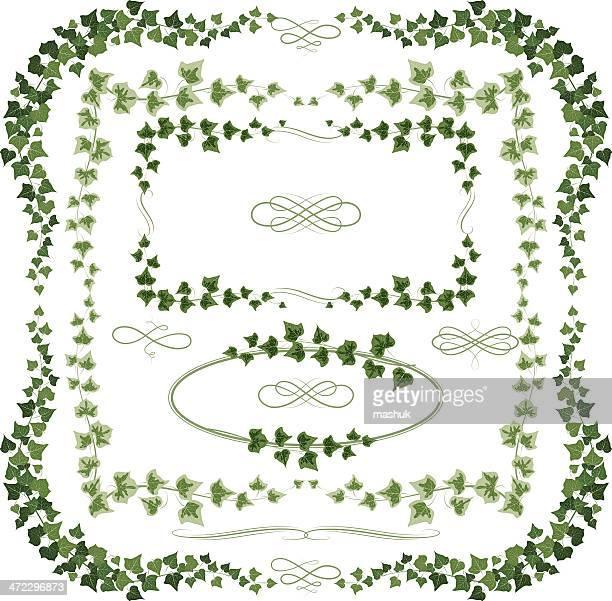 ivy フレーム - つる草点のイラスト素材/クリップアート素材/マンガ素材/アイコン素材