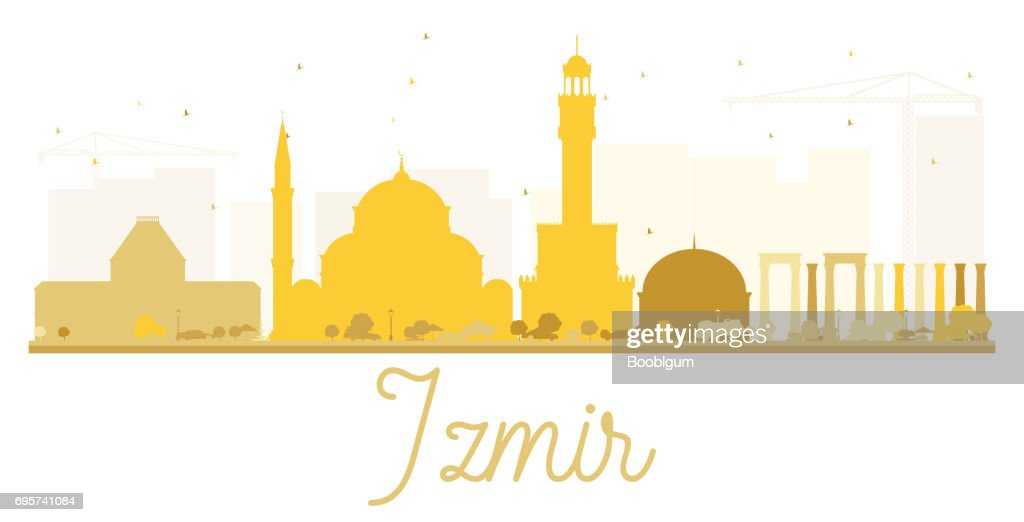 Izmir City Skyline Golden Silhouette High Res Vector Graphic Getty Images