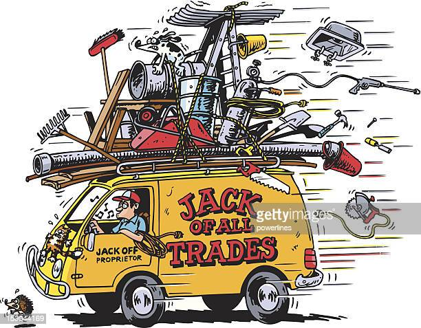 jack of all trades - carpenter stock illustrations