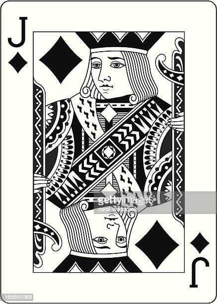 Jack of Diamonds Two Black playing card