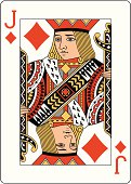 Jack of Diamonds Two playing card