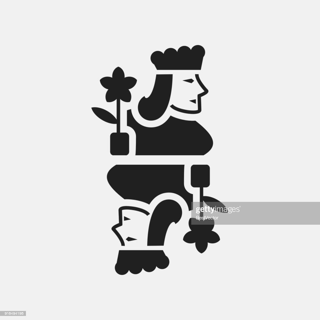 Jack playing card icon illustration