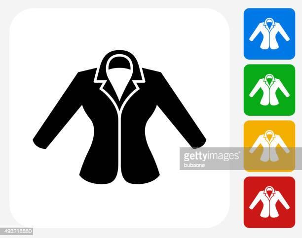 Jacket Icon Flat Graphic Design