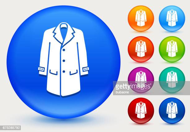 Jacket Icon on Shiny Color Circle Buttons