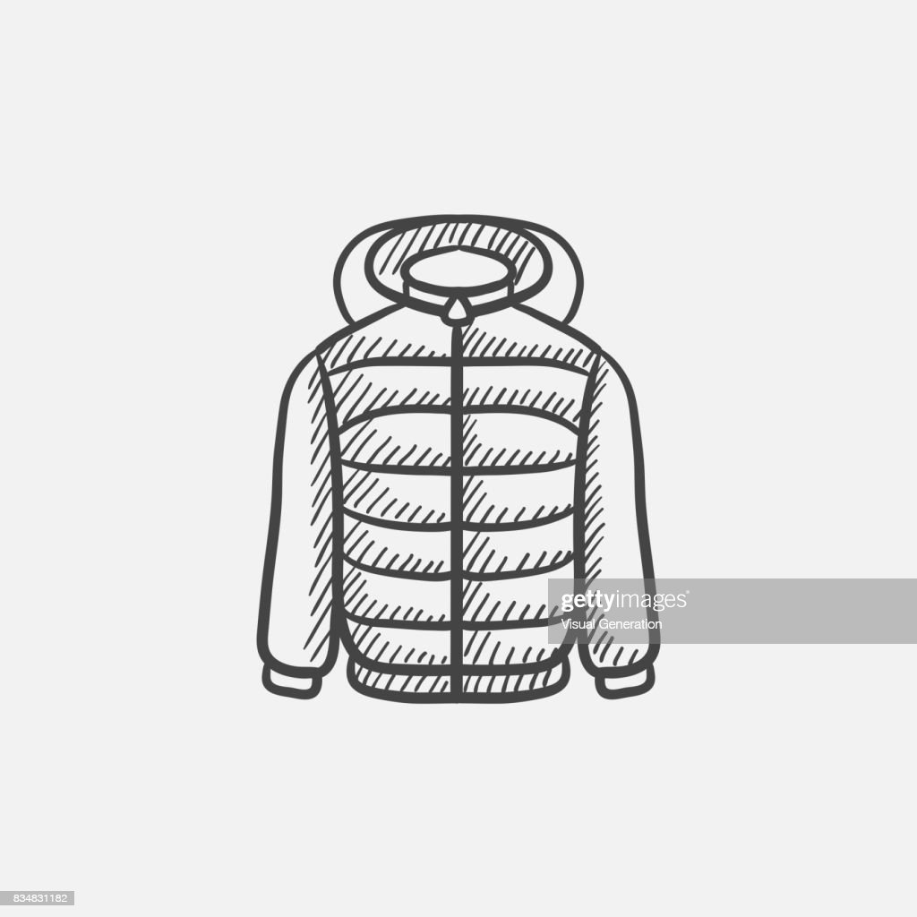 Jacket sketch icon
