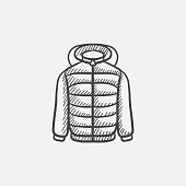 Jacket sketch icon