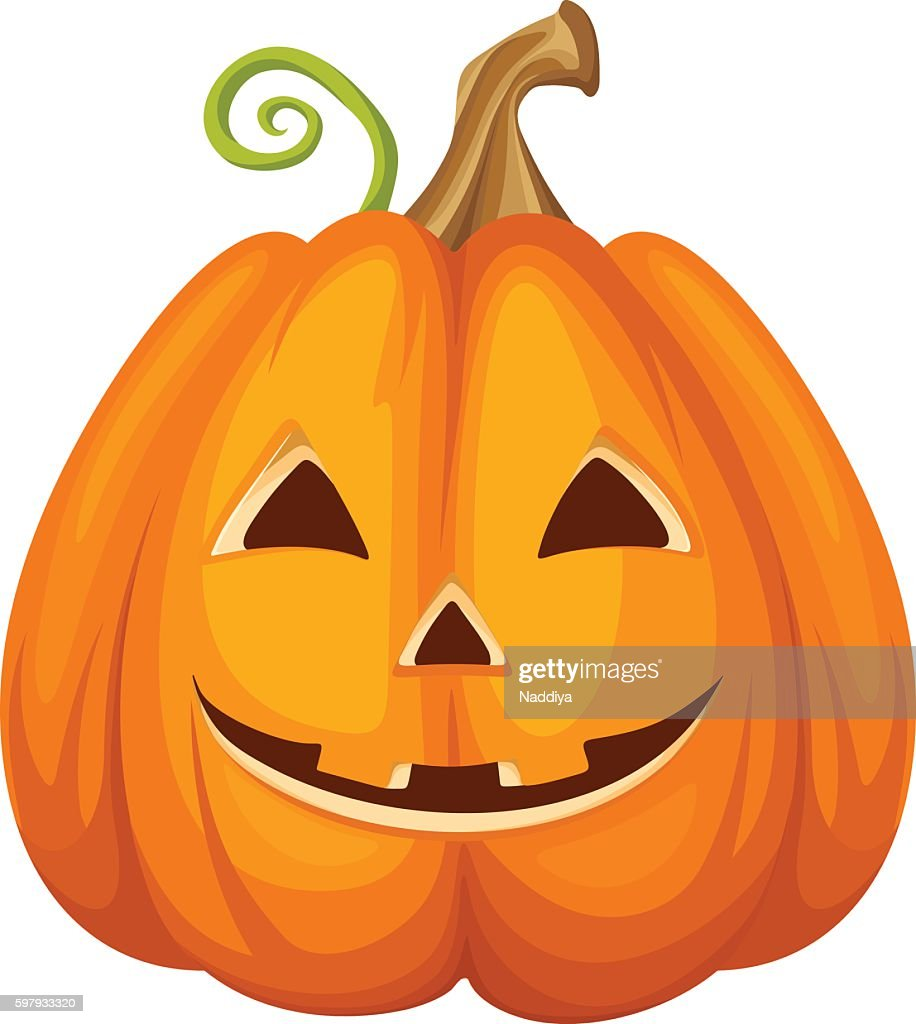 Jack-O-Lantern. Halloween pumpkin. Vector illustration.
