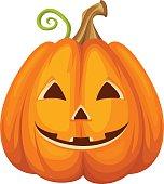 Jack-O-Lantern. Halloween pumpkin. Vector illustration.