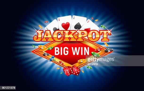 jackpot casino vector illustration - jackpot stock illustrations, clip art, cartoons, & icons