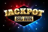 Jackpot, gambling casino money games banner