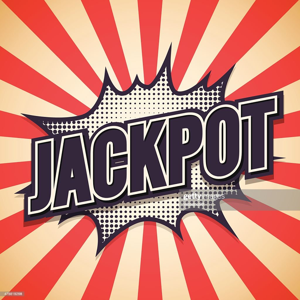Jackpot Graffiti. Comic Speech Bubble. Vector illustration