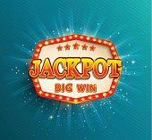Jackpot lighting banner. Big Win.