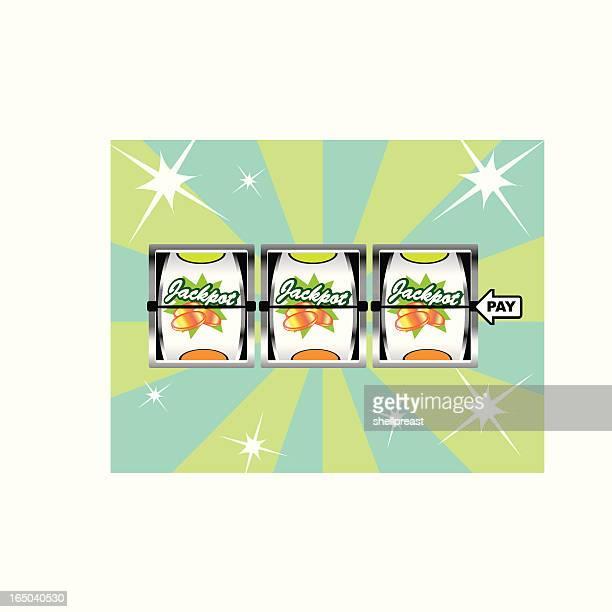 jackpot! slot machine payout - jackpot stock illustrations, clip art, cartoons, & icons