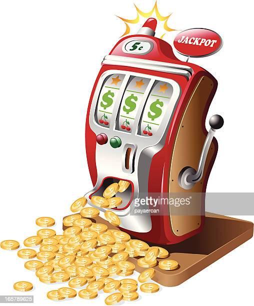 jackpot - slot machine stock illustrations, clip art, cartoons, & icons