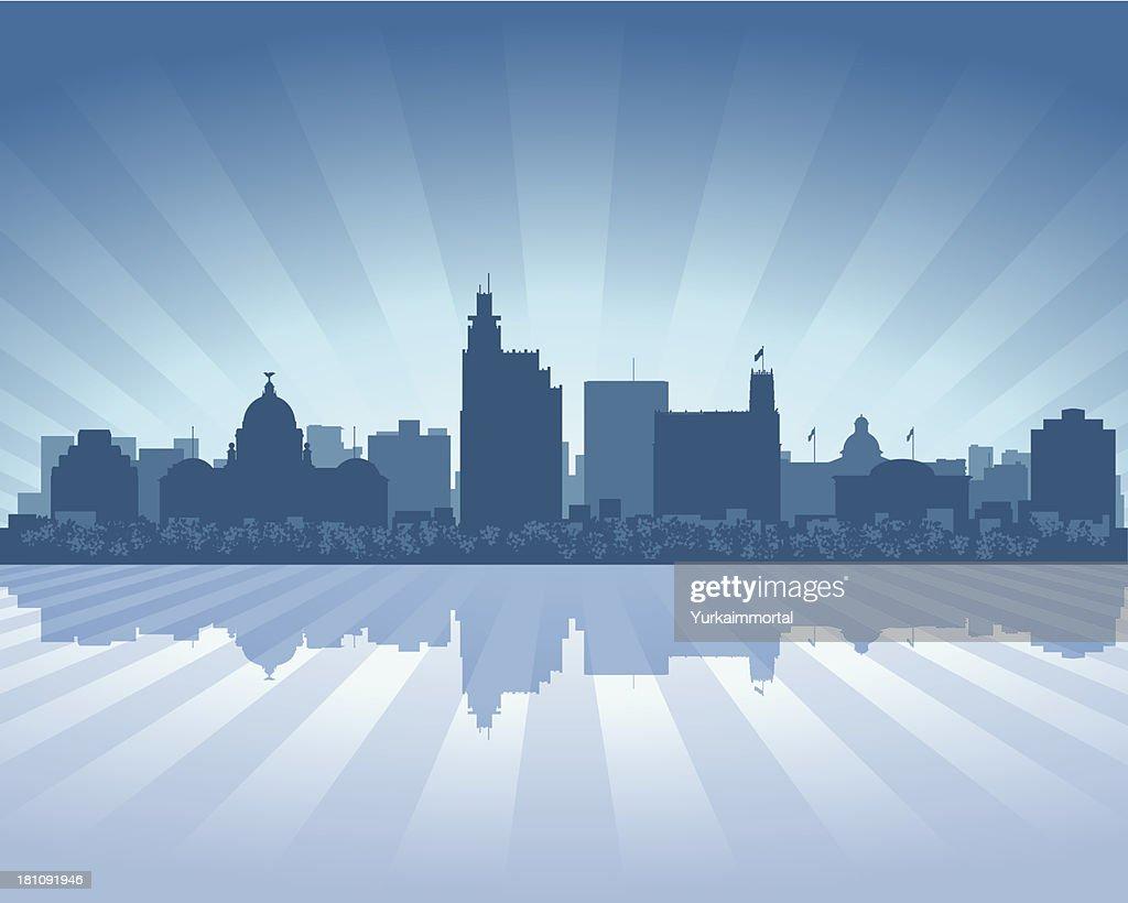 Jackson Blue City skyline silhouette