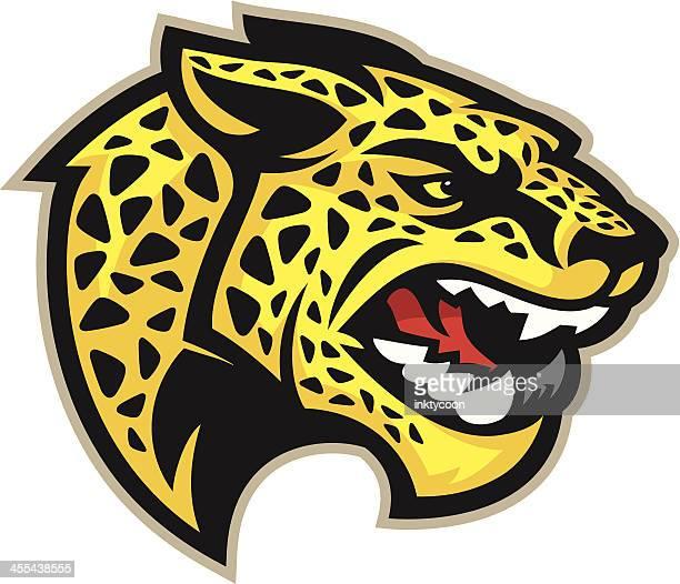 ilustraciones, imágenes clip art, dibujos animados e iconos de stock de jaguar mascot de - jaguar