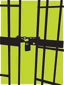 Jail Background - Prison Cell Door & Pad Lock