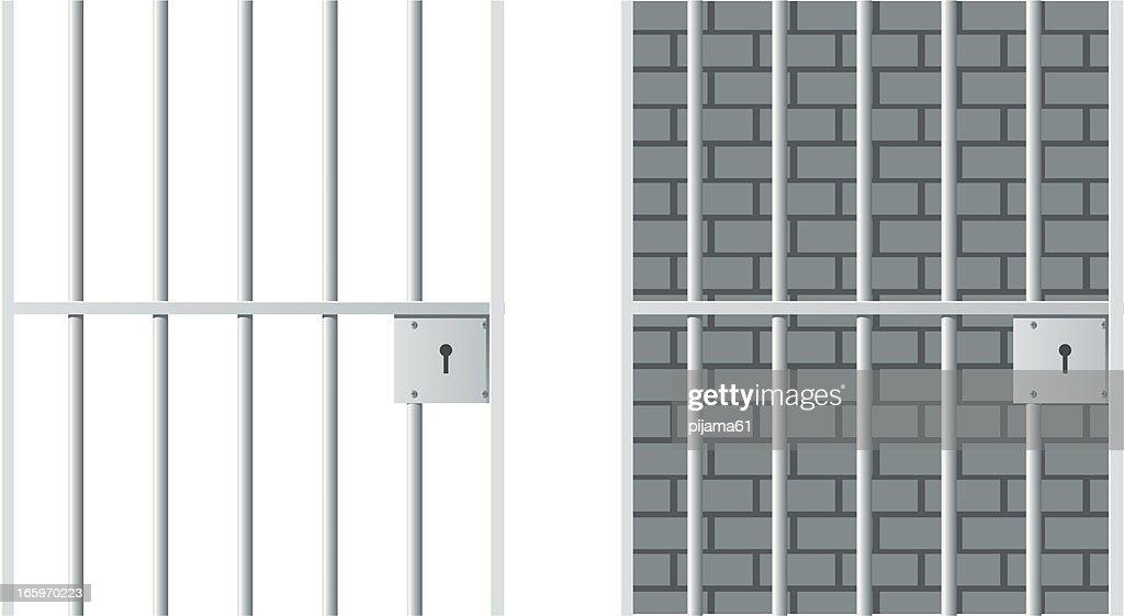 Jail cells in prison illustration