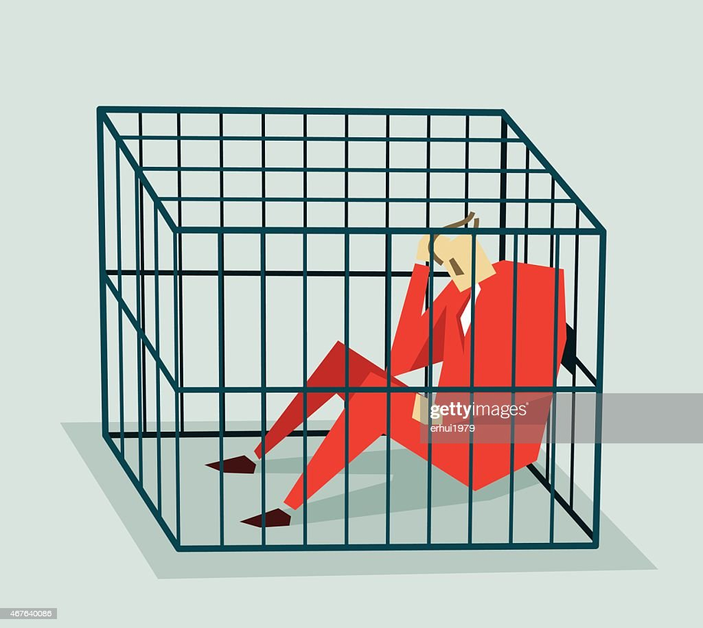Jailed, Cage-Illustration