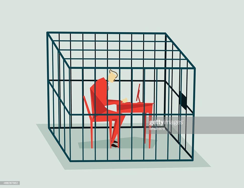 Jailed-Illustratio : stock illustration
