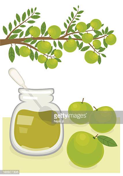 jam and apples - marmalade stock illustrations, clip art, cartoons, & icons