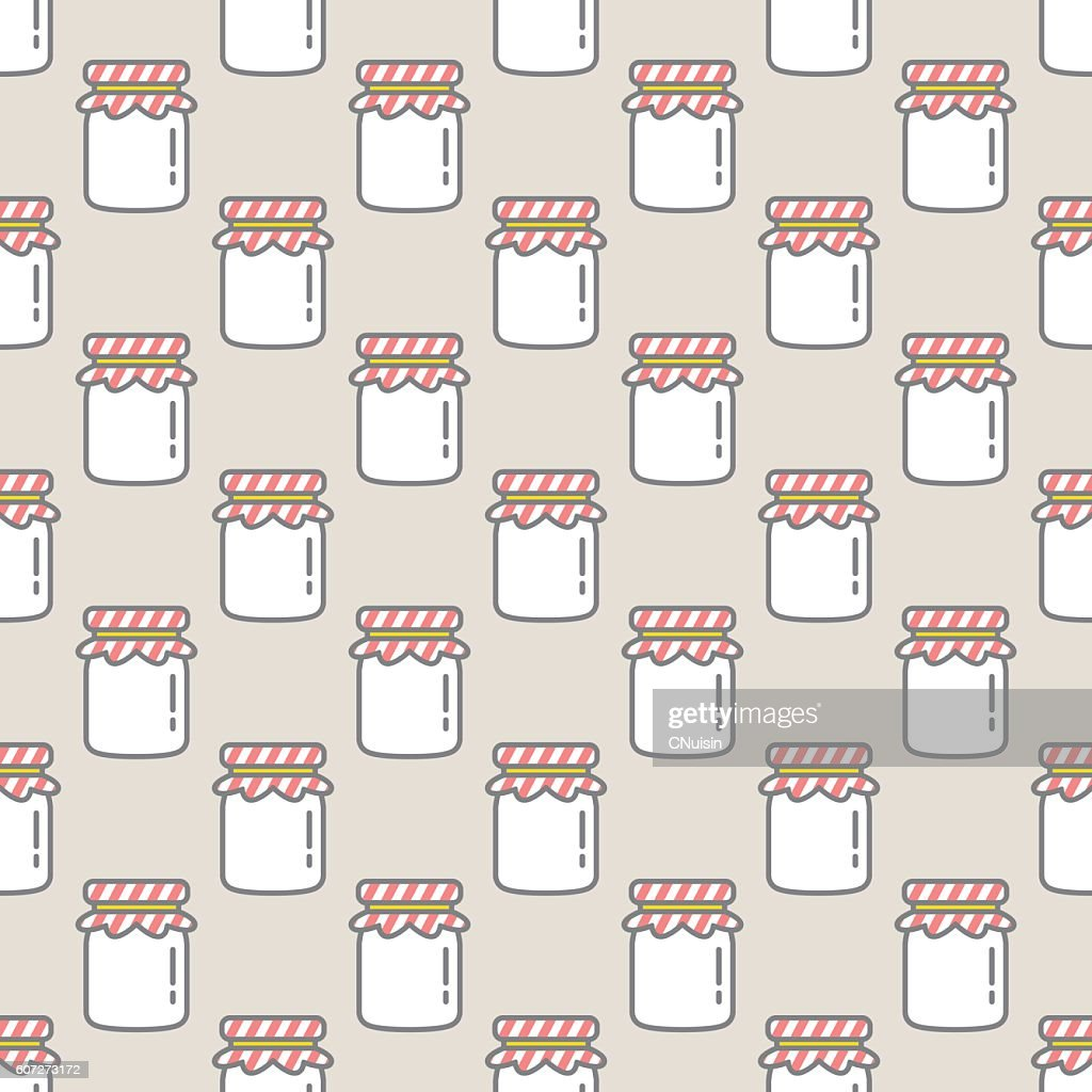 Jam bottle seamless pattern Soft