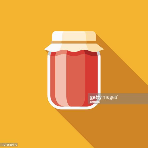 Jam Flat Design Breakfast Icon