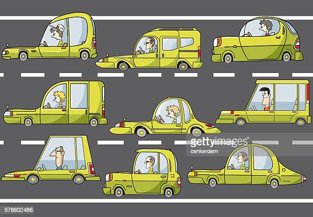 jam in the city - hatchback stock illustrations, clip art, cartoons, & icons