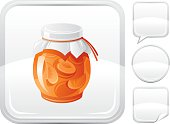 Jam jar  icon on silver button
