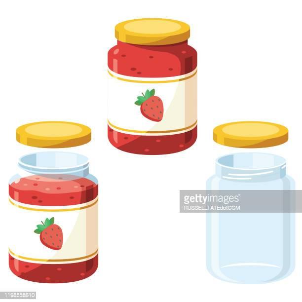 jam jars - preserves stock illustrations