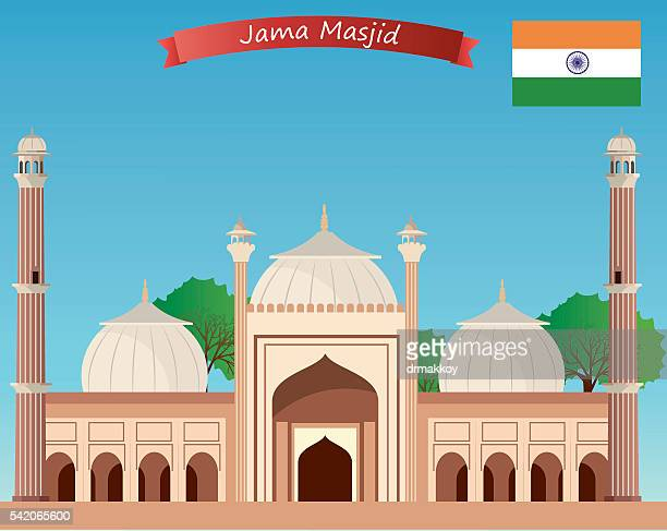jama masjid - mosque stock illustrations