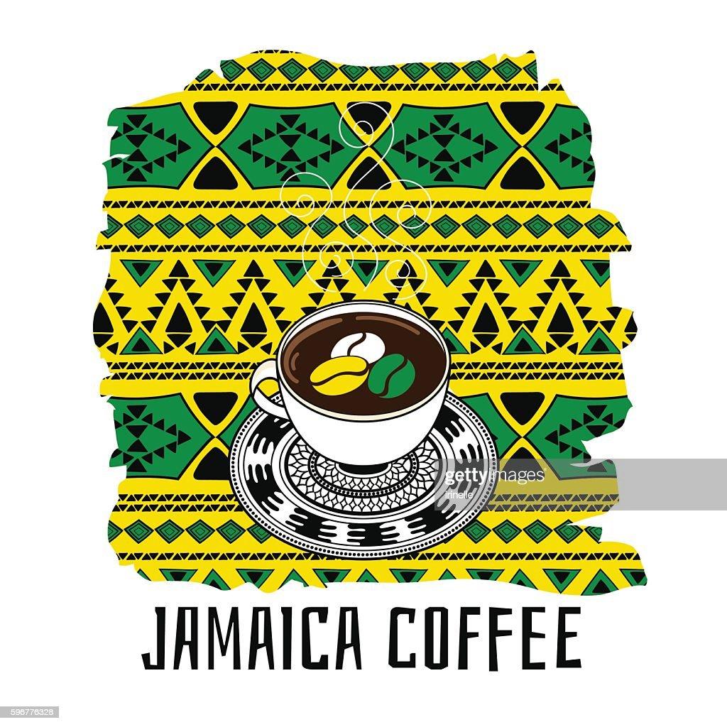 Jamaica coffee illustration