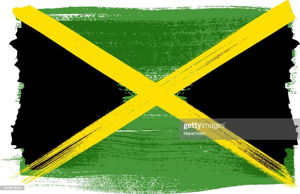 Jamaica colorful brush strokes painted flag