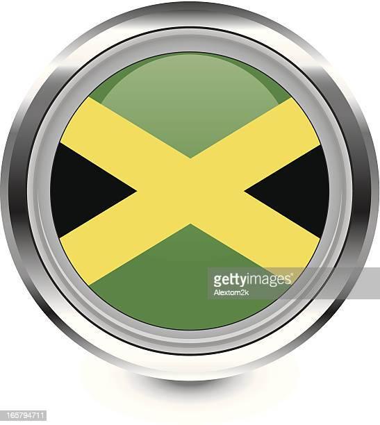 jamaica flag icon - jamaican culture stock illustrations, clip art, cartoons, & icons