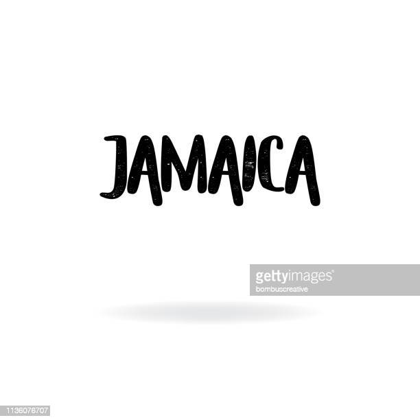 jamaica lettering design - jamaica stock illustrations