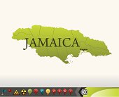 Jamaica map with navigation icons