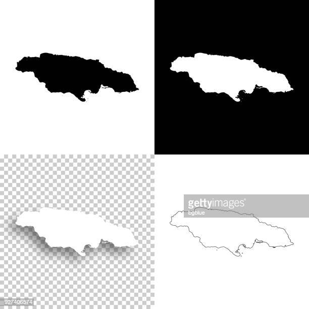jamaica maps for design - blank, white and black backgrounds - jamaica stock illustrations, clip art, cartoons, & icons