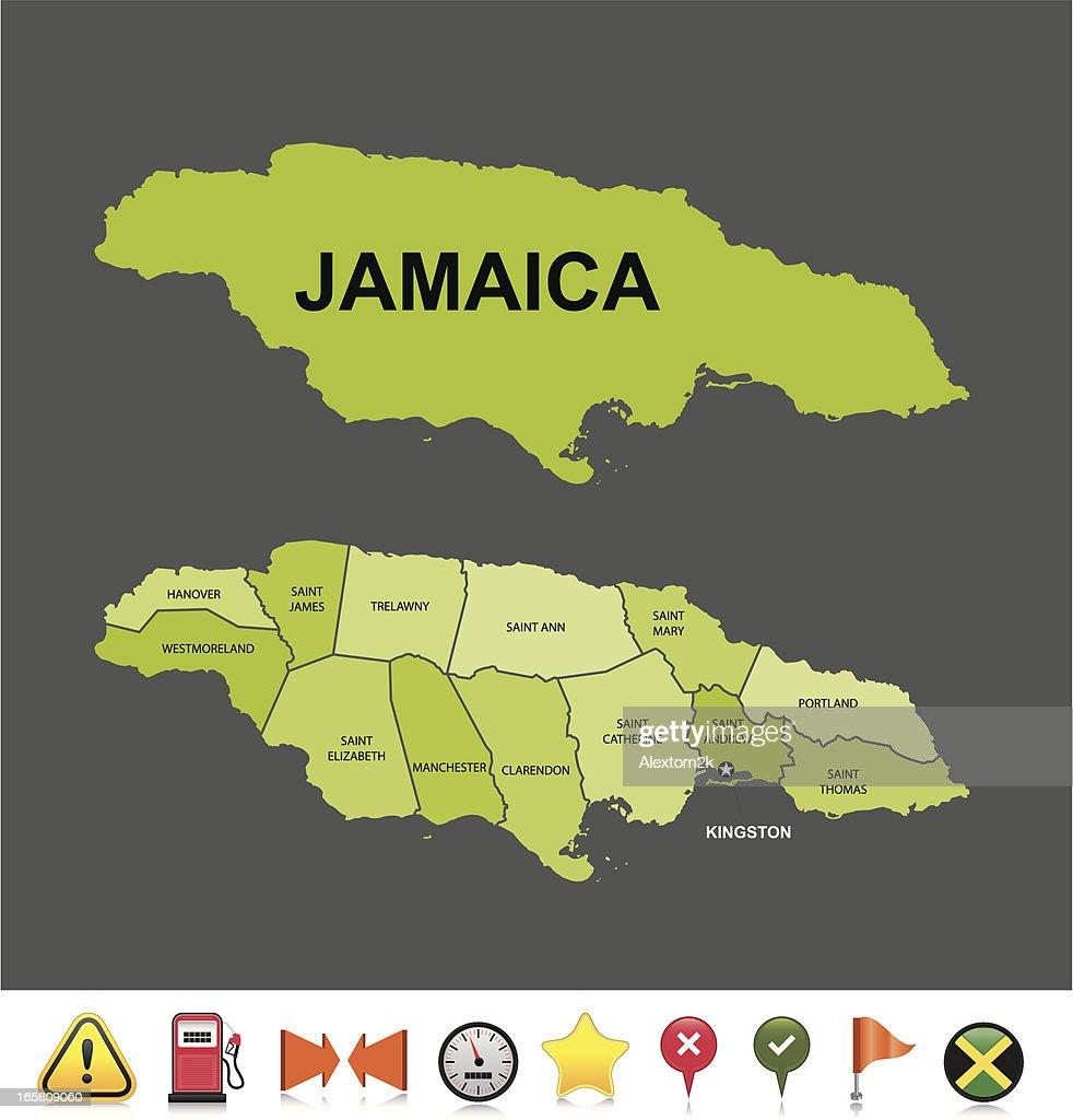 Jamaica navigation map