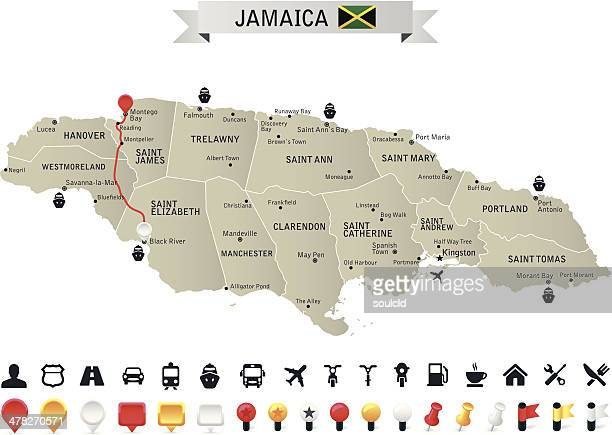 jamaica - jamaica stock illustrations, clip art, cartoons, & icons