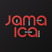 Jamaica vector t-shirt and apparel design, typography, print